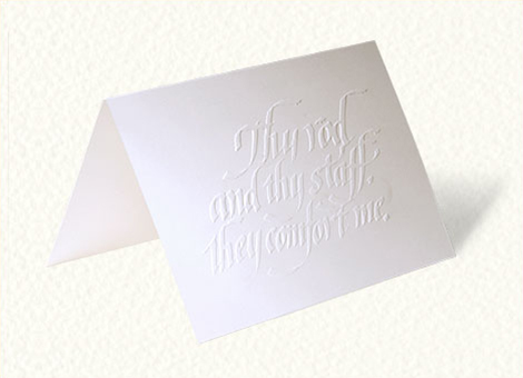 Embossed Sympathy Greeting Card